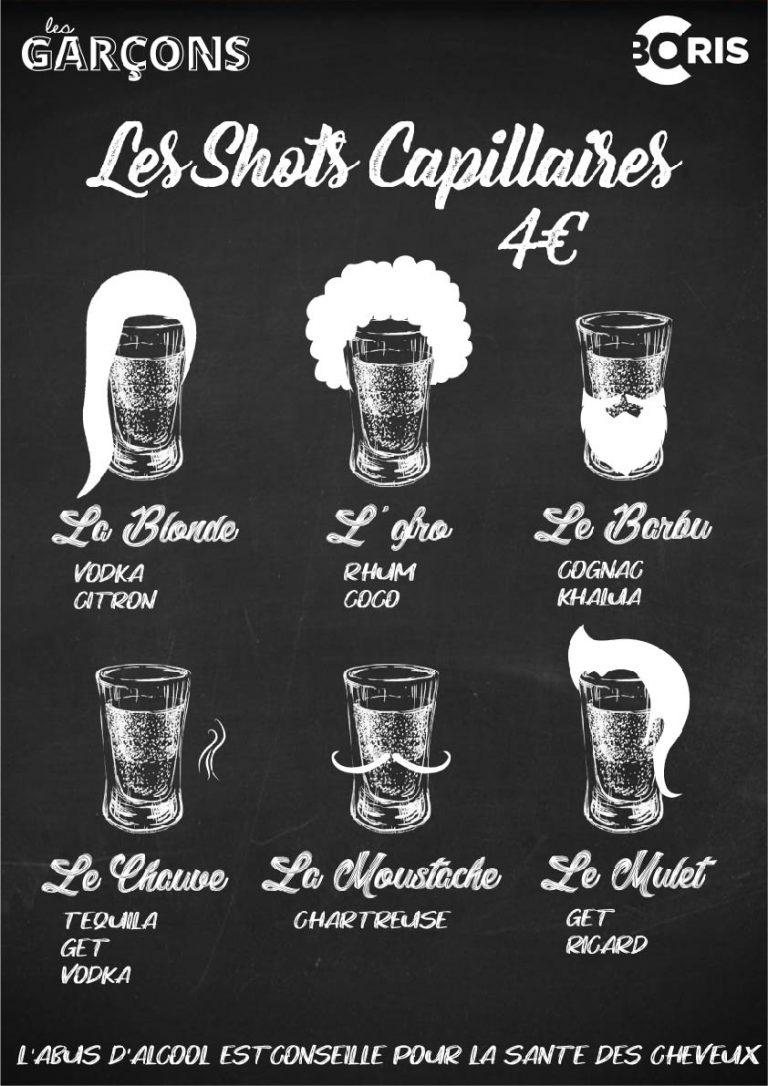 menu soirée shooter graphiste montpellier